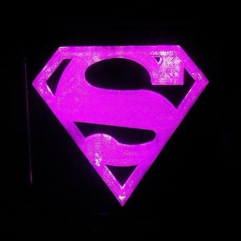 4_display_large.JPG Télécharger fichier STL gratuit SUPERMAN LED Lumière / Lumière de nuit • Plan imprimable en 3D, Balkhagal4D