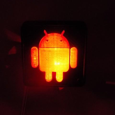 5_display_large.JPG Télécharger fichier STL gratuit Lampe de nuit/lampe de nuit Android Robot LED • Plan à imprimer en 3D, Balkhagal4D