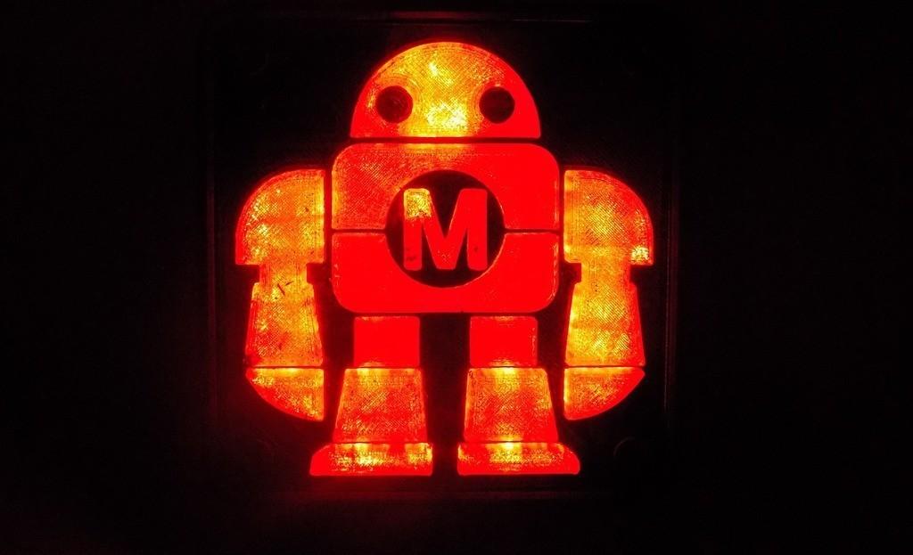 DSCN0235_display_large.JPG Télécharger fichier STL gratuit Maker Faire LED Enseigne de robot / veilleuse de nuit • Objet à imprimer en 3D, Balkhagal4D