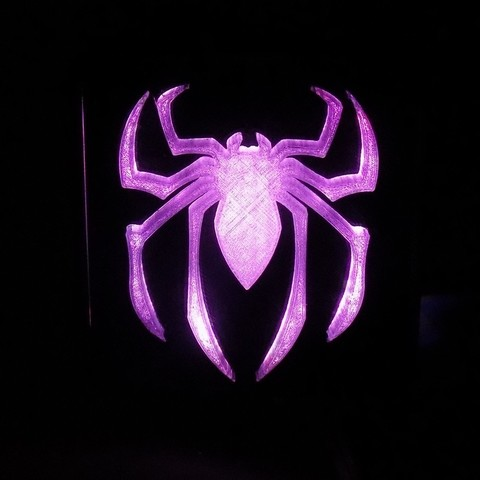 5_display_large.JPG Download free STL file SPIDERMAN LED Light/Nightlight • 3D print design, Balkhagal4D