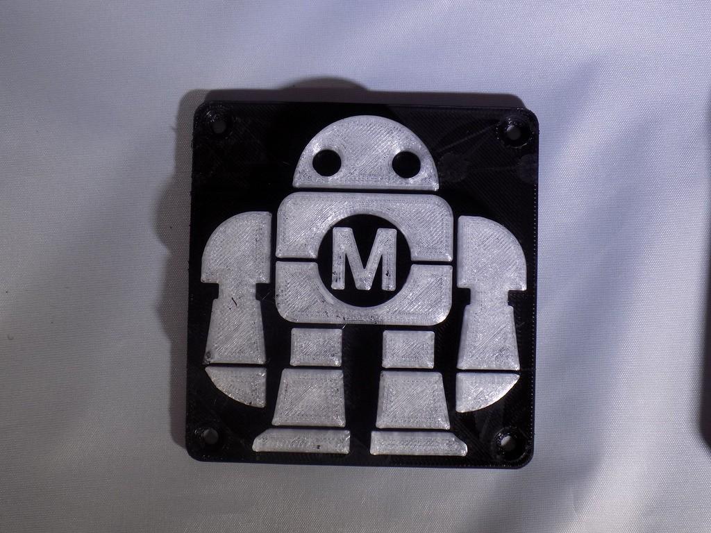 DSCN0222_display_large.JPG Download free STL file Maker Faire LED Robot sign/nightlight • 3D printer object, Balkhagal4D