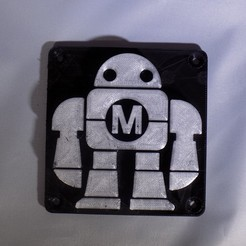 DSCN0222_display_large.JPG Download free STL file Maker Faire LED Robot sign/nightlight • 3D printer object, Balkhagal4D