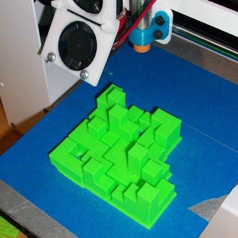 puzzlecube_3_on_printerbed_display_large.JPG Télécharger fichier STL gratuit Mini Puzzle Cube Impossible • Objet pour imprimante 3D, Balkhagal4D
