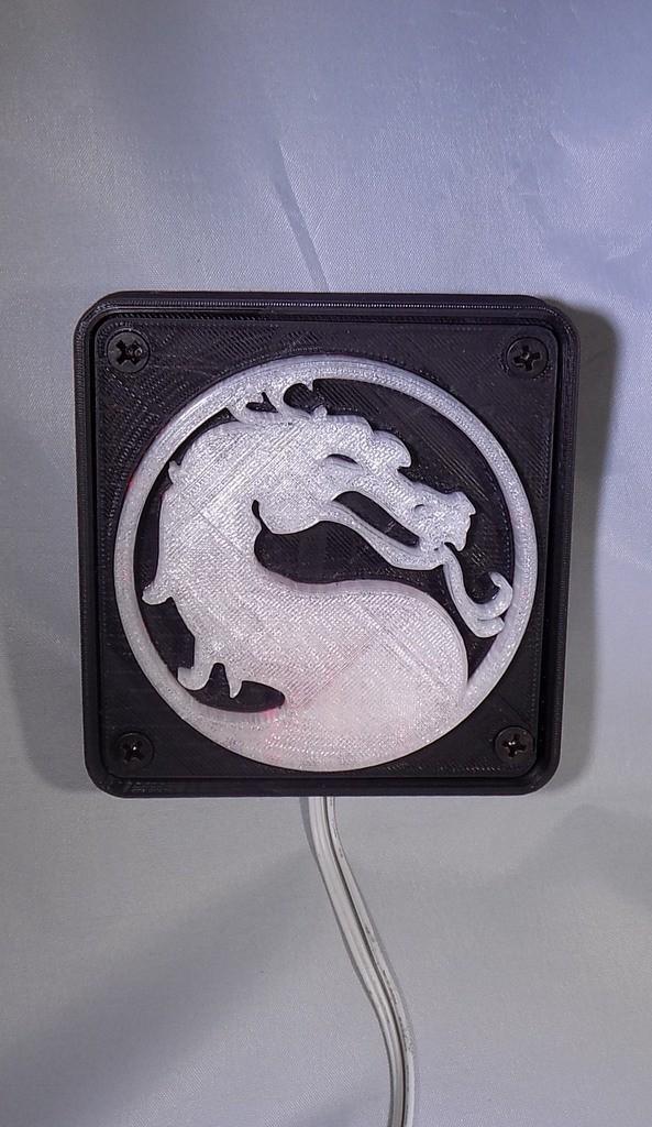 1_display_large.JPG Download free STL file Mortal Kombat LED Light/NightLight • Object to 3D print, Balkhagal4D