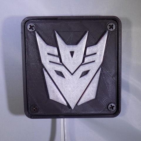 1_display_large.JPG Download free STL file Decepticon Transformers LED Nightlight/Lamp • 3D print model, Balkhagal4D