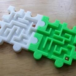 Download free STL 3D Modular Snap Puzzle Mazes, Balkhagal4D