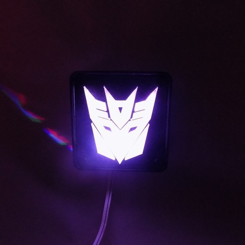 3_display_large.JPG Download free STL file Decepticon Transformers LED Nightlight/Lamp • 3D print model, Balkhagal4D