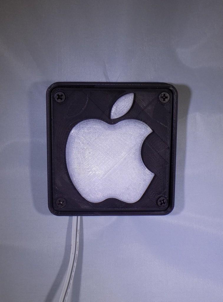 1_display_large.JPG Télécharger fichier STL gratuit Lampe de nuit / Lampe de nuit à DEL avec logo Apple • Plan pour imprimante 3D, Balkhagal4D
