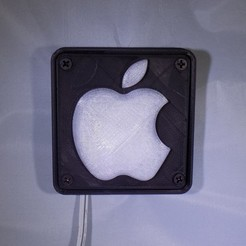 1_display_large.JPG Download free STL file Apple Logo LED Nightlight/Lamp • 3D printer template, Balkhagal4D