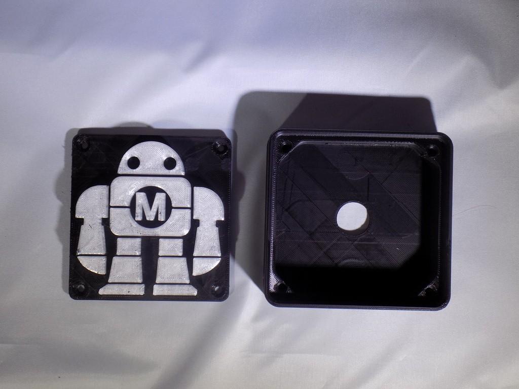 DSCN0219_display_large.JPG Download free STL file Maker Faire LED Robot sign/nightlight • 3D printer object, Balkhagal4D