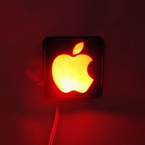 4_display_large.JPG Télécharger fichier STL gratuit Lampe de nuit / Lampe de nuit à DEL avec logo Apple • Plan pour imprimante 3D, Balkhagal4D