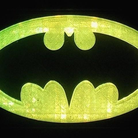 1_display_large.JPG Download free STL file BATMAN LED Light/Nightlight • 3D print design, Balkhagal4D