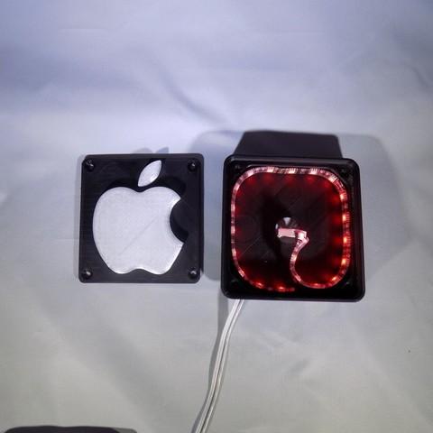 8_display_large.JPG Télécharger fichier STL gratuit Lampe de nuit / Lampe de nuit à DEL avec logo Apple • Plan pour imprimante 3D, Balkhagal4D