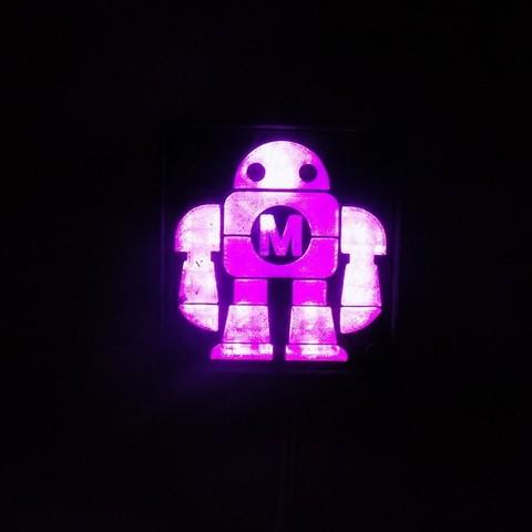 DSCN0230_display_large.JPG Download free STL file Maker Faire LED Robot sign/nightlight • 3D printer object, Balkhagal4D