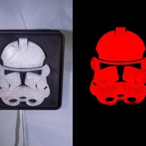 combine_images_display_large.jpg Download free STL file StormTrooper LED Light/Nightlight • 3D print template, Balkhagal4D