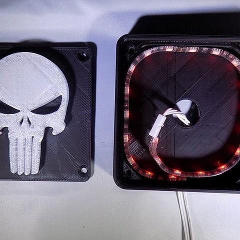 3_display_large.JPG Download free STL file Punisher LED Light/Nightlight • 3D printer object, Balkhagal4D