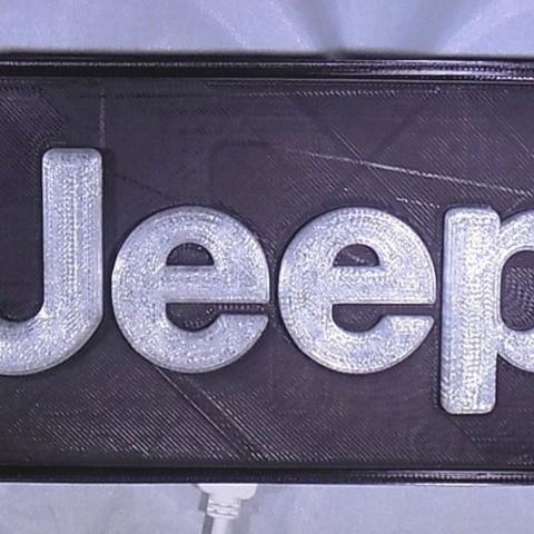 1_display_large.JPG Télécharger fichier STL gratuit Emblème Jeep Lumière LED / Veilleuse • Objet pour impression 3D, Balkhagal4D
