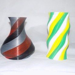 Free 3D printer designs Multiple Extrusion Vases, Balkhagal4D