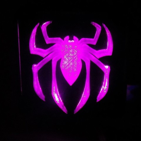 4_display_large.JPG Download free STL file SPIDERMAN LED Light/Nightlight • 3D print design, Balkhagal4D