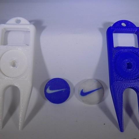 4_display_large.JPG Download free STL file NIKE Golf Ball Marker • 3D printing template, Balkhagal4D