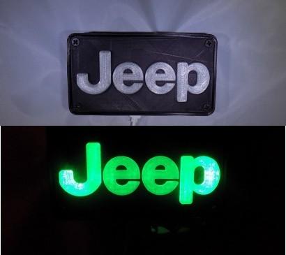 combine_images_display_large.jpg Télécharger fichier STL gratuit Emblème Jeep Lumière LED / Veilleuse • Objet pour impression 3D, Balkhagal4D