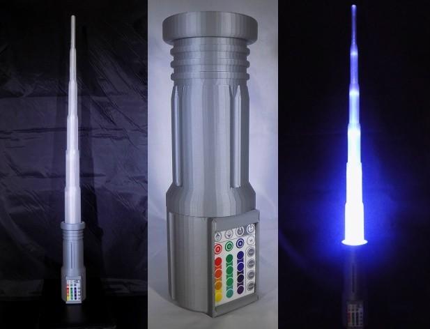 1_display_large.jpg Download free STL file LIGHTSABER - LED - Fully Functional • 3D printer template, Balkhagal4D