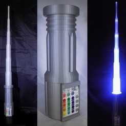 1_display_large.jpg Download free STL file LIGHTSABER - LED - Fully Functional • 3D printer template, Balkhagal4D