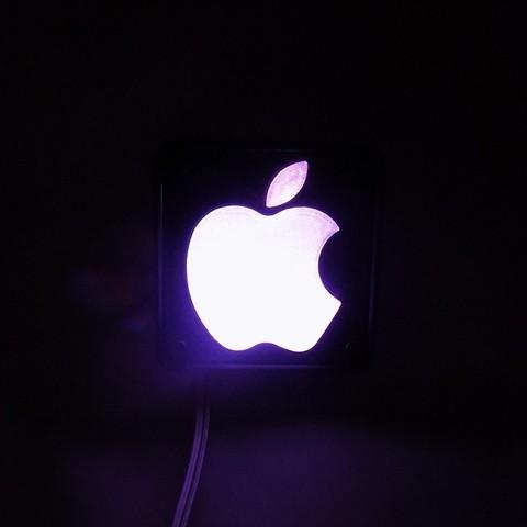 3_display_large.JPG Télécharger fichier STL gratuit Lampe de nuit / Lampe de nuit à DEL avec logo Apple • Plan pour imprimante 3D, Balkhagal4D