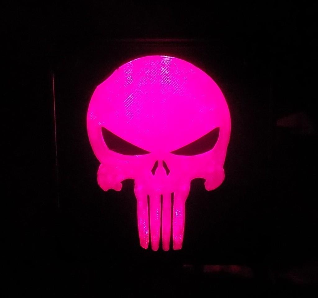 6_display_large.JPG Download free STL file Punisher LED Light/Nightlight • 3D printer object, Balkhagal4D