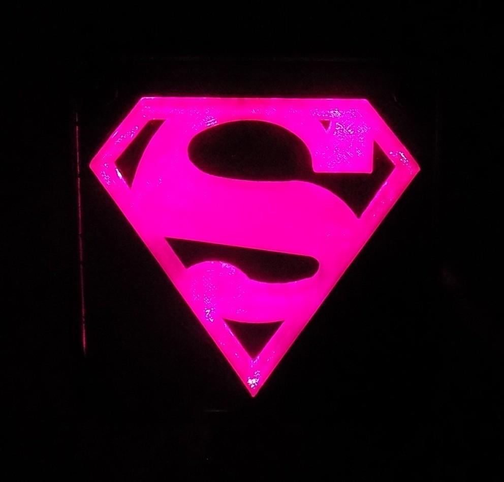 6_display_large.JPG Télécharger fichier STL gratuit SUPERMAN LED Lumière / Lumière de nuit • Plan imprimable en 3D, Balkhagal4D