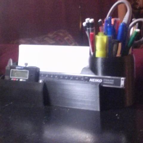 CAM00340_display_large.jpg Download free STL file Desk Organizer for Caliper • 3D printable model, Balkhagal4D