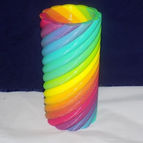 Download free 3D printer designs 12 Color Vase - Color Mixing, Balkhagal4D