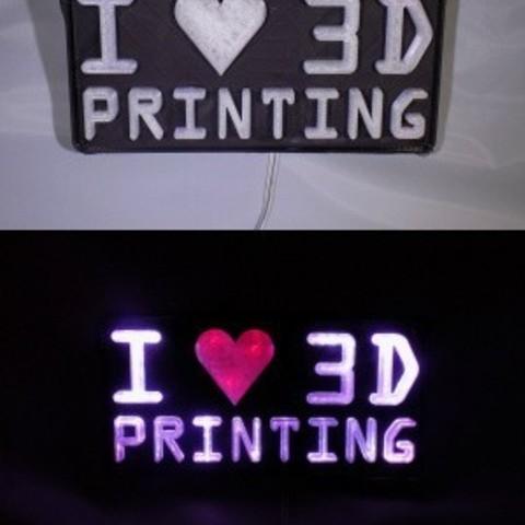 combine_images_display_large.jpg Télécharger fichier STL gratuit I <3 Impression 3D LED Signalétique / Lumière nocturne • Design pour imprimante 3D, Balkhagal4D