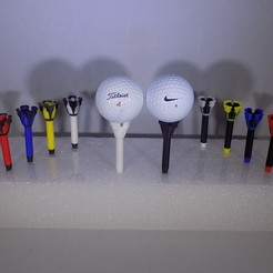 Free 3D printer model Royal-TEE... Golf Tee, Balkhagal4D