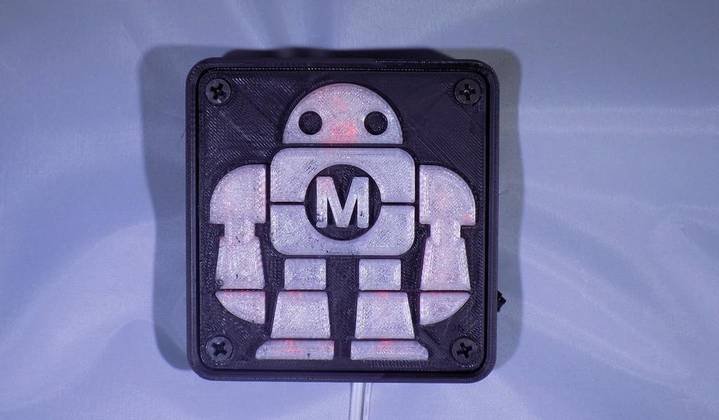 DSCN0227_display_large.JPG Download free STL file Maker Faire LED Robot sign/nightlight • 3D printer object, Balkhagal4D