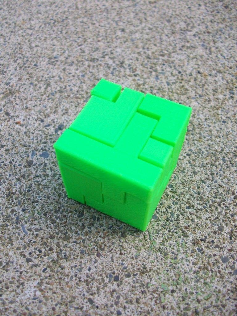 puzzlecube_1_together_display_large.JPG Télécharger fichier STL gratuit Mini Puzzle Cube Impossible • Objet pour imprimante 3D, Balkhagal4D
