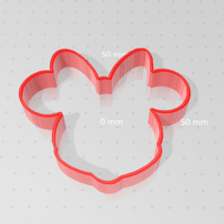 Télécharger plan imprimante 3D gatuit Emporte pièce Disney MINNIE, victor51430