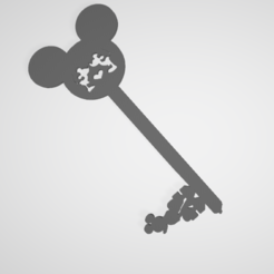 Download free STL file Disney Mickey and Minnie Key • 3D print template, victor51430