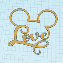 Descargar archivos 3D gratis Decoración Amor Mickey DISNEY, victor51430