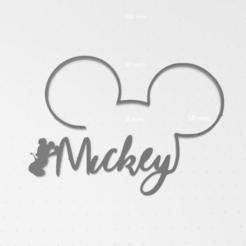 Imprimir en 3D gratis Decoración Mickey DISNEY, victor51430