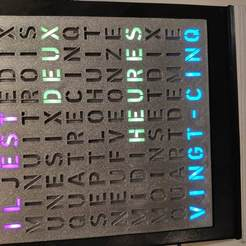 IMG_20200205_173711.jpg Download free STL file Leds Text Clock • Design to 3D print, ZoltanKi