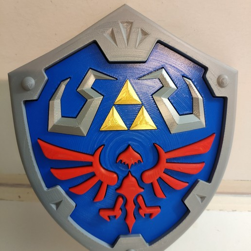 Download free 3D printing files The Legend of Zelda - Hylian Shield multi-parts, ZoltanKi