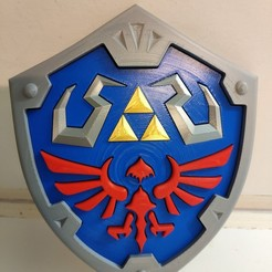 Télécharger fichier 3D gratuit The Legend of Zelda - Hylian Shield multi-parts, ZoltanKi