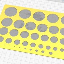 Descargar archivos 3D Stencil Plantilla Circulos , ajquerio
