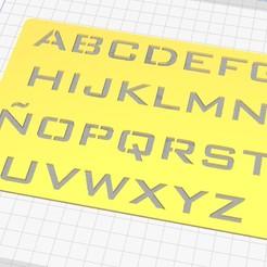 Descargar modelos 3D Stencil Letras Letrografo, ajquerio