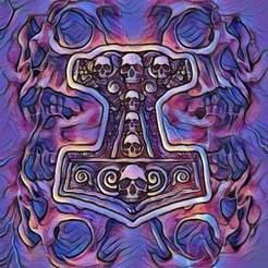 Télécharger fichier 3D Marteau des dieux, lucifersown99