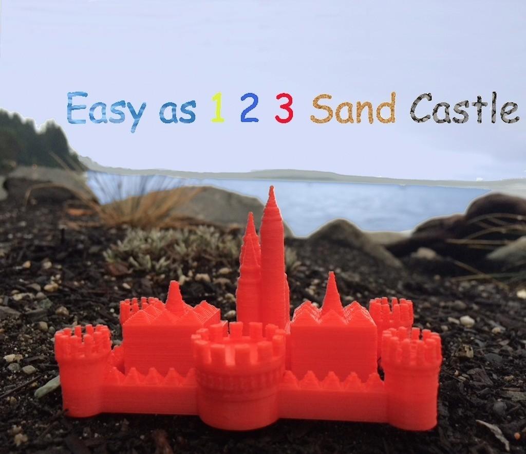 Castle_3.0_display_large.jpg Download free STL file Easy as 1 2 3 Sand Castle/Mold • 3D printable template, Pudedrik