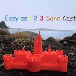 Download free 3D printing designs Easy as 1 2 3 Sand Castle/Mold, Pudedrik