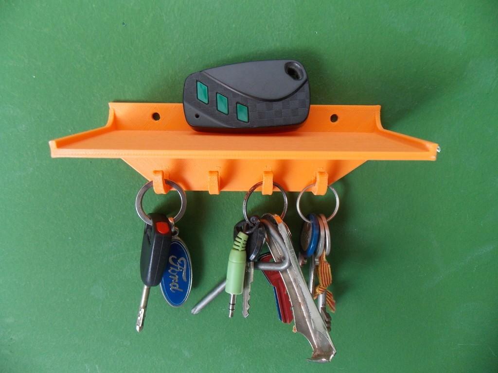 DSCN1256_display_large.JPG Download free STL file Key holder with shelf • 3D print design, Pudedrik