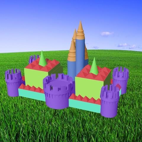 Colorful_Castle_display_large.jpg Download free STL file Easy as 1 2 3 Sand Castle/Mold • 3D printable template, Pudedrik